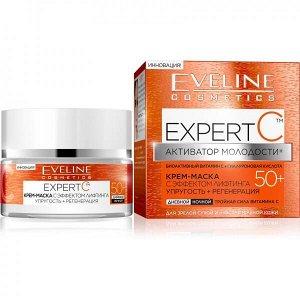 EVELINE   EXPERT C 50+  Крем-маска с эффектом лифтинга упругость + регенерация  50 мл.