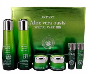 Серия специального ухода за кожей лица с экстрактом алоэ вера Aloe Vera Oasis Special Care 4 Set