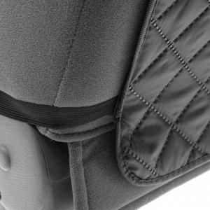 Накидка-незапинайка на спинку, оксфорд, ромб, черный, размер: 60х40 см