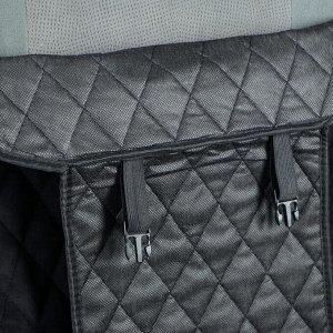 Накидка на переднее сиденье, велюр, размер 55 х 150 см, черный