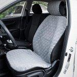 Накидка на переднее сиденье, велюр, размер 55 х 150 см, серый