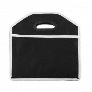 Органайзер в багажник, складной,  52 х 32 х 31 см, 3 секции, черный