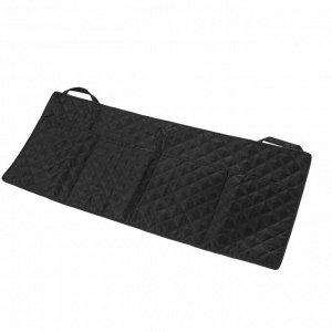 Органайзер на спинку сидения в багажник, оксфорд, ромб, черный, размер 95х40 см