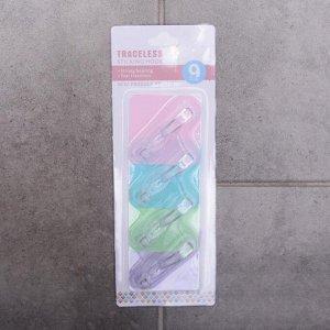 Набор крючков-наклеек «Классик», 4 шт, цвет МИКС