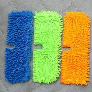 Насадка для плоской двусторонней швабры Доляна, 40?10 см, микрофибра, букли, цвет МИКС