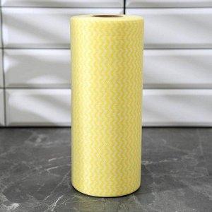 Рулон салфеток универсальных Доляна, 25?30 см, вискоза, 100 шт, цвет МИКС