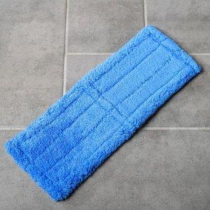 Насадка для плоской швабры Доляна Twist, 36?13 см, микрофибра, цвет голубой