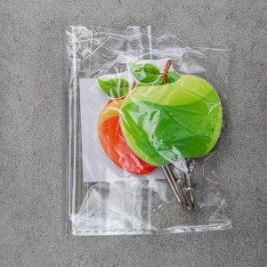 Набор крючков на липучке «Яблоки», 2 шт, цвет МИКС
