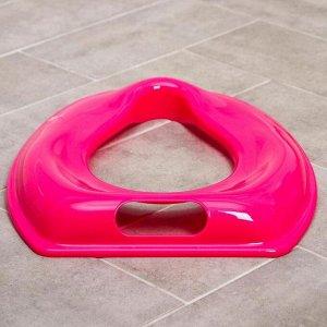 Сиденье на унитаз, цвет розовый