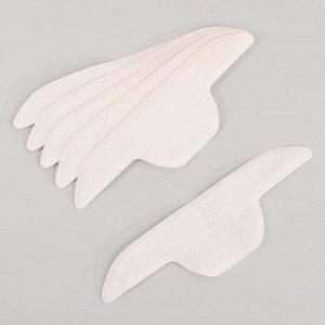 Набор защитных вкладышей для воротника, самоклеящиеся, 6 штук, цвет белый/бежевый