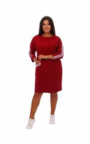 Платье Флоренс (бордовое)