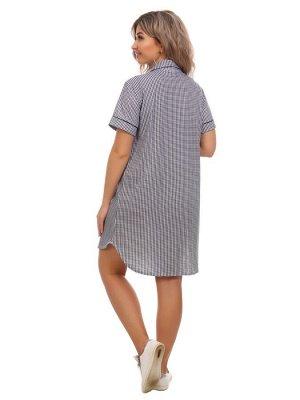 Халат-рубашка женский Ирис(кулирка)