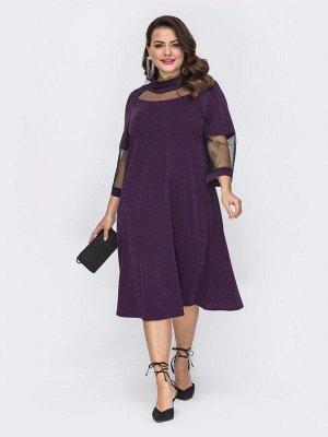 Платье с люрексом 701420