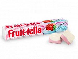 Жевательные конфеты Фрутелла Fruittella со вкусом Клубничного йогурта,41г