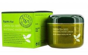 Увлажняющий осветляющий крем с семенами зеленого чая Green Tea Seed Whitening Water Cream