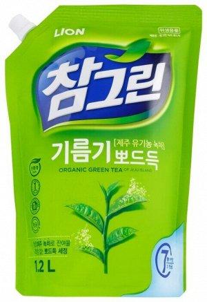 Ср-во д/посуды LION Korea CHAMGREEN 1,2кг Зеленый чай (рефил с носиком)