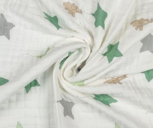 Муслиновое одеяло Слоник и звезда, хлопок, 8 слоев