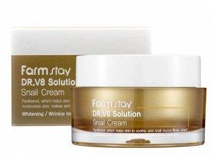 Многофункциональный восстанавливающий крем с улиточным муцином Dr-V8 Solution Snail Cream