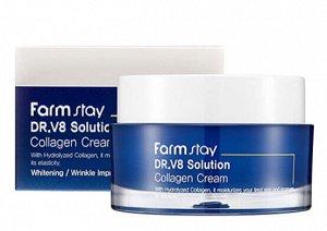 Крем с коллагеном для увлажнения и повышения эластичности кожи Dr.V8 Solution Collagen Cream