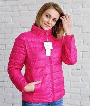 Ультралегкая женская куртка, цвет красная роза