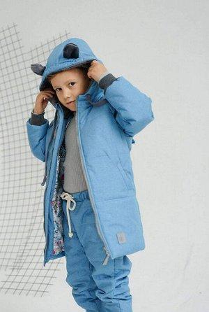 Пальто зима Мишка Бирюза