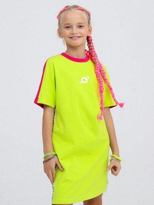 Платье свободного силуэта  Цвет:кэмел