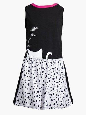 Платье свободного силуэта  Цвет:черный/серый