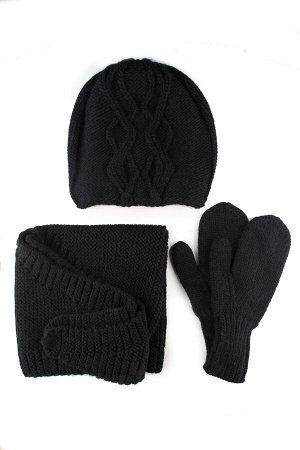 Комплект «Элиф» (шапка+косынка+варежки)