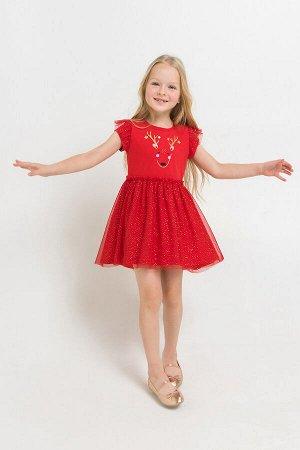 Платье(Осень-Зима)+girls (насыщенно-красный)