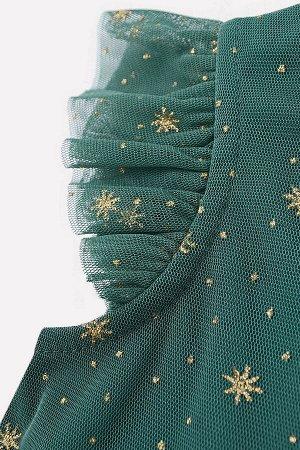 Платье(Осень-Зима)+girls (темно-зеленый)