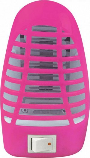 Ночник сд москитный NLM 01-MP розовый с выкл 230В IN HOME