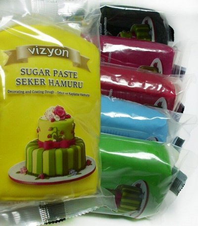 Украшение тортов, мастика-огромная закупка кондитеров — Мастика Vizyon (Турция)