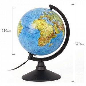 """Глобус физический GLOBEN """"Классик"""", диаметр 210 мм, с подсветкой, К012100009"""