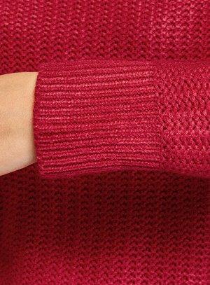 Джемпер свободного силуэта с завязками Красный