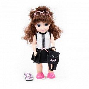 """Кукла """"Диана"""" (37 см) в школе (ходит, танцует, разговаривает, поёт, рассказ. сказки, воспр. мелодии, повтор. слова, туфельки светятся) (в кор.)"""