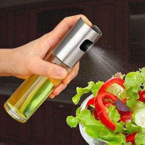 Стеклянная бутылка с распылителем для масли и др. жидкостей