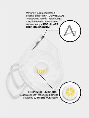 Защитная маска с клапаном FFP2 / 1 шт.