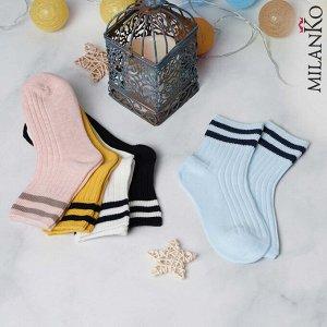 Детские носки демисезонные (полоски) MilanKo IN-168