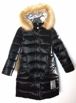 1424 (черный) Пальто для девочки