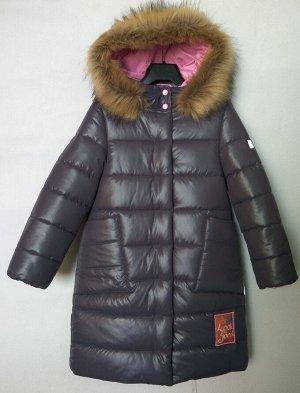 1424 (темно-серый) Пальто для девочки