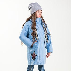 90004/3 (голубой) Куртка для девочки