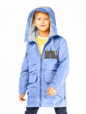 100036/2 (синий) Пальто-парка для мальчика