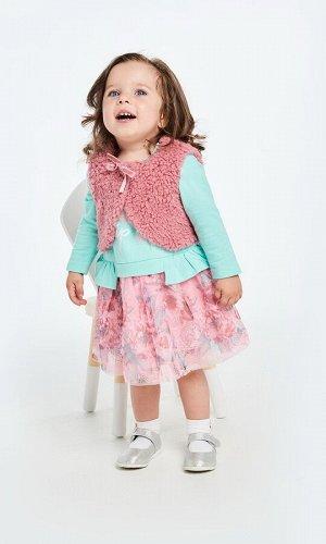 0524115001 (светло-розовый) Жилет детский для девочек Walts светло-розовый
