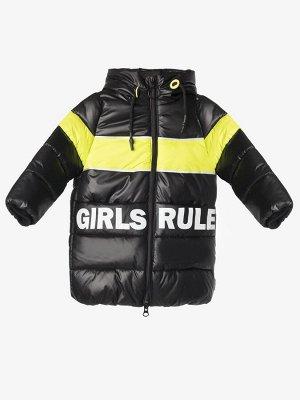 90869/4 (черный) Пальто для девочки