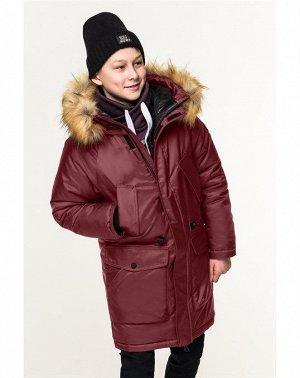 80860/2 (бордовый) Куртка для мальчика