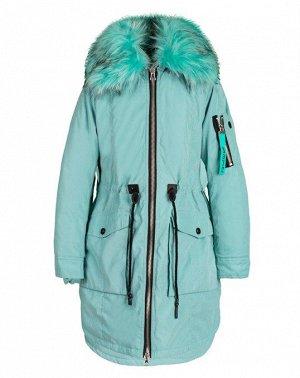 70706/2 (зеленый) Куртка-парка для девочки