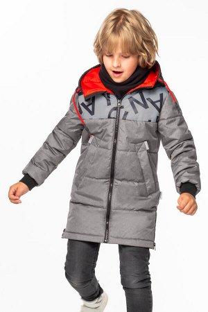 100016/2 (серый) Пальто для мальчика
