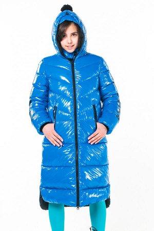90790/1 (синий) Пальто для девочки