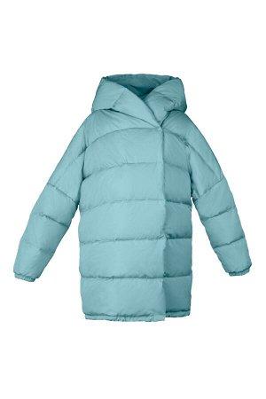 70698/1 (зеленый) Пальто - пуховик для девочки