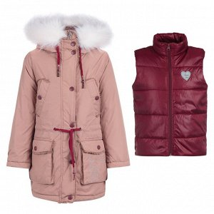 90554/2 (песочный) Куртка для девочки